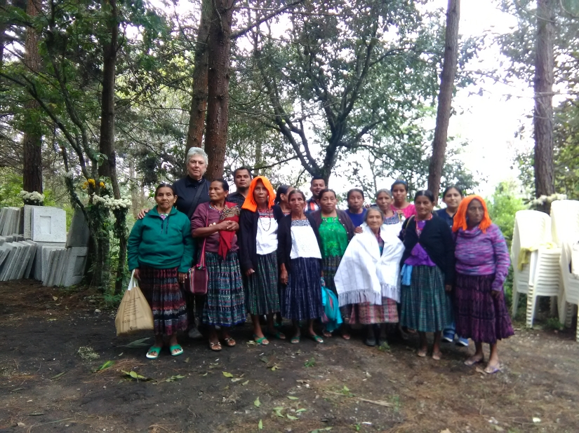 Photo of Debra L. Gish with The Sepur Zarco Grandmothers