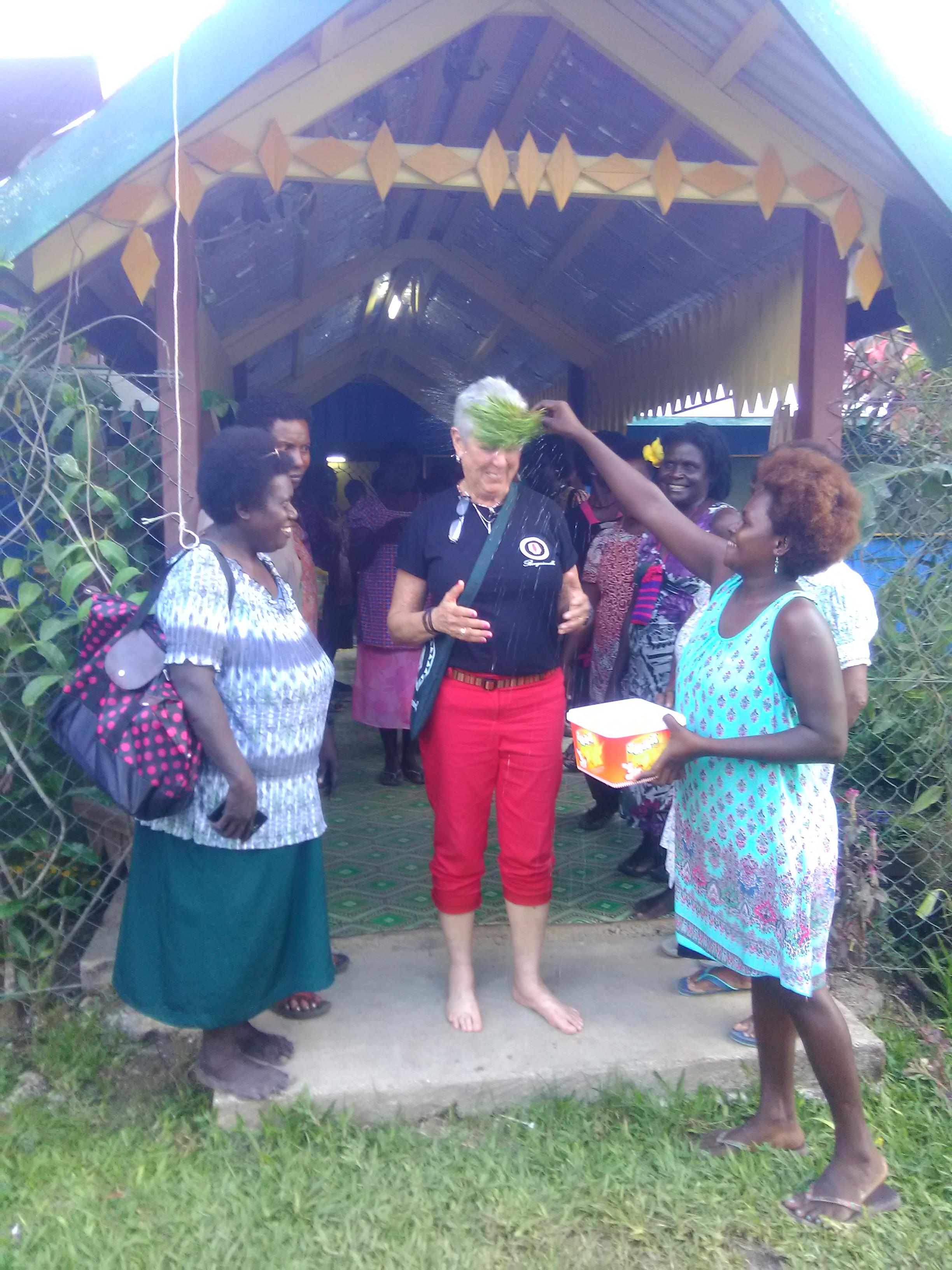 Debra's feet washing ceremony by matriarchal clan, Buka, Papua New Guinea